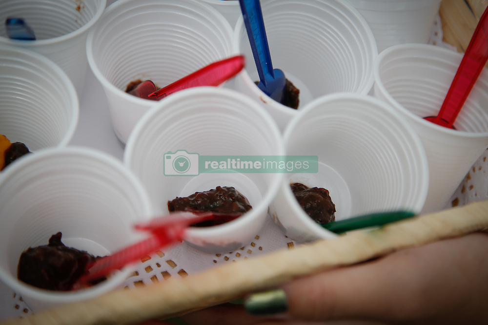 September 3, 2017 - Strzelce Dolne, Bydgoszcz, Poland - Home made plum jam is seen being handed out for tasting at the Festival of the Plums on 3 September. (Credit Image: © Jaap Arriens/NurPhoto via ZUMA Press)