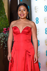 Yalitza Aparicio attending the after party for the 72nd British Academy Film Awards, at the Grosvenor House Hotel in central London. Picture date: Sunday February 10th, 2019. Photo credit should read: Matt Crossick/ EMPICS Entertainment.