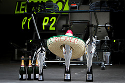 Formel 1: GP von Mexiko 2016 - Rennen in Mexiko-Stadt / 301016<br /> <br /> ***Mercedes AMG F1 celebrates a 1-2 finish for the team.<br /> 30.10.2016. Formula 1 World Championship, Rd 19, Mexican Grand Prix, Mexico City, Mexico, Race Day.<br />  Copyright: Bearne / XPB Images / action press ***