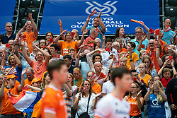09-08-2019 NED: FIVB Tokyo Volleyball Qualification 2019 / Netherlands, - Korea, Rotterdam<br /> First match pool B in hall Ahoy between Netherlands - Korea (3-2) for one Olympic ticket / Support NL, fans