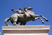 Torino Statue dei Dioscuri in Piazza Castello