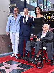 Michael Douglas honored with star on the Hollywood Walk of Fame. Hollywood, California. 06 Nov 2018 Pictured: Michael Douglas,Catherine Zeta-Jones,Cameron Douglas,Kirk Douglas. Photo credit: AXELLE/BAUER-GRIFFIN / MEGA TheMegaAgency.com +1 888 505 6342