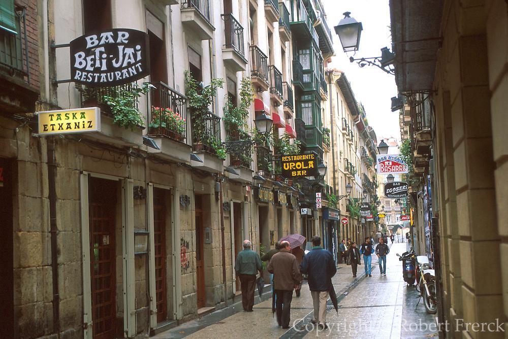SPAIN, NORTH, BASQUE San Sebastian, signs in Basque