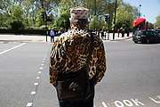 Leopard print shirt in London, England, United Kingdom.
