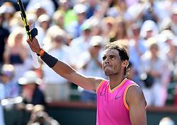 March 15, 2019 - Palm Desert, California, Usa - Tennis : BNP Paribas Open 2019 - Rafael Nadal - Espagne (Credit Image: © Panoramic via ZUMA Press)