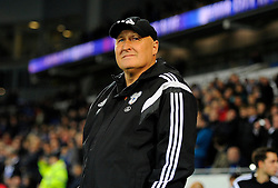 Cardiff City Manager Russell Slade  - Mandatory byline: Joe Meredith/JMP - 07966 386802 - 26/10/2015 - FOOTBALL - Cardiff City Stadium - Cardiff, Wales - Cardiff City v Bristol City - Sky Bet Championship