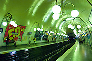 Metro in Paris, France.