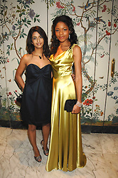 Left to right, TV presenter KONNIE HUQ and actress NAOMI HARRIS at the Chain of Hope Ball held at The Dorchester, Park Lane, London on 4th February 2008.<br /><br />NON EXCLUSIVE - WORLD RIGHTS
