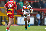 Bradford Bulls replacement Colton Roche (11) in action  during the Kingstone Press Championship match between Dewsbury Rams and Bradford Bulls at the Tetley's Stadium, Dewsbury, United Kingdom on 10 September 2017. Photo by Simon Davies.