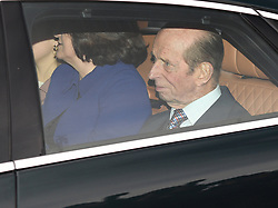 The Duke of Kent arriving for the Queen's Christmas lunch at Buckingham Palace, London.