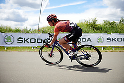 Elena Cecchini (ITA) in a solo move at Stage 2 of 2019 OVO Women's Tour, a 62.5 km road race starting and finishing in the Kent Cyclopark in Gravesend, United Kingdom on June 11, 2019. Photo by Sean Robinson/velofocus.com