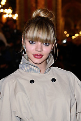 Pauline Baly attending the Valentin Yudashkin show as part of the Paris Fashion Week Womenswear Fall/Winter 2018/2019 in Paris, France on March 05, 2018. Photo by Aurore Marechal/ABACAPRESS.COM