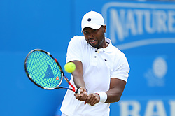 USA's Donald Young in action against Croatia's Marin Cilic during day five of the 2017 AEGON Championships at The Queen's Club, London.