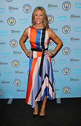 Gabby Logan arriving for the All or Nothing: Manchester City, world premiere at Vue Printworks, Manchester.