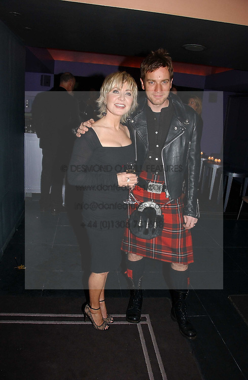 LULU and EWAN McGREGOR at a Burns Night dinner in aid of CLIC Sargent and Children's Hospice Association Scotland held at St.Martin's Lane Hotel, St.Martin's Lane, London on 25th January 2007.<br /><br />NON EXCLUSIVE - WORLD RIGHTS