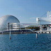 Ontario Place Toronto Ontario Canada. A  geodesic dome  containing the Cinesphere IMAX theatre.