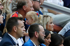 Celebs and Family at Denmark v France - 26 June 2018