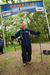 Iain at the finish line..The John Hartson Foudation walk up Ben Nevis..Pic ©2010 Michael Schofield. All Rights Reserved.