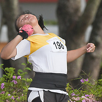 Tan Xin Ning of Victoria Junior College clinched gold in the A Division Girls Finals with a final distance of 10.68m. (Photo © Stefanus Ian/Red Sports)