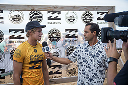 December 11, 2017 - Haleiwa, Hawaii, U.S. - John John Florence of Hawaii advances to round three after winning round one heat 6 of the 2017 WSL Billabong Pipe Masters at Pipeline, Oahu, Hawaii, USA..Billabong Pipe Masters 2017. (WSL via ZUMA Wire/ZUMAPRESS.com)