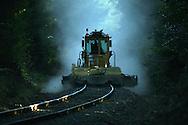 Railroad Regulator in a cloud of dust.