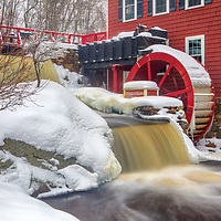 The Historic Millstream red mill located in Chelmsford MA of Middlesex county is an old scenic Massachusetts saw mill along with a water wheel for generating electricity.<br /> <br /> Massachusetts The Historic Millstream waterwheel photography images are available as museum quality photo, canvas, acrylic, wood or metal prints. Wall art prints may be framed and matted to the individual liking and interior design decoration needs:<br /> <br /> https://juergen-roth.pixels.com/featured/the-red-waterwheel-at-the-historic-millstream-juergen-roth.html<br /> <br /> Good light and happy photo making!<br /> <br /> My best,<br /> <br /> Juergen
