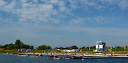 2005 FISA World Cup, Dorney Lake, Eton, ENGLAND, 27.05.05. GV's around the start area and umpire launches..Photo  Peter Spurrier. .email images@intersport-images...[Mandatory Credit Peter Spurrier/ Intersport Images] Rowing Course, Dorney Lake