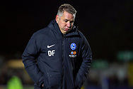 Peterborough United manager Darren Ferguson walking off the pitch during the EFL Sky Bet League 1 match between AFC Wimbledon and Peterborough United at the Cherry Red Records Stadium, Kingston, England on 12 March 2019.