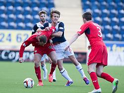 Raith Rovers Gordon Smith and Falkirk's Will Vaulks.<br /> Falkirk 2 v 1 Raith Rovers, Scottish Championship game played today at The Falkirk Stadium.<br /> © Michael Schofield.