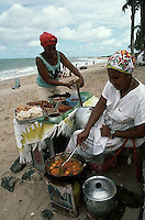 May 1986, Salvador, Brazil --- Brazilian Women Cooking Food at the Beach --- Image by © Owen Franken