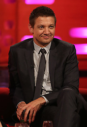 Jeremy Renner during the filming of The Graham Norton Show at the London Studios in London, to be aired on BBC1 on Friday evening.