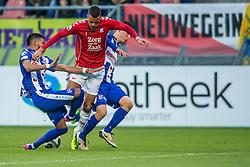 05-02-2017 NED: FC Utrecht - Heerenveen, Utrecht<br /> 21e speelronde van seizoen 2016-2017, Nieuw Galgenwaard / Richairo Zivkovic #9, Stefanp Marzo, Jeremiah St. Juste