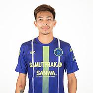 THAILAND - APRIL 09: Krailas Panyaroj #16 of Samut Prakan City FC on April 09, 2019.<br /> .<br /> .<br /> .<br /> (Photo by: Naratip Golf Srisupab/SEALs Sports Images/MB Media Solutions)