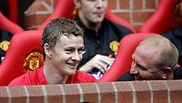 Fotball<br /> Old Trafford<br /> 02.08.08<br /> Manchester United - Espanyol<br /> Ole Gunnar Solskjær - Testimonial<br /> Solskjær på benken<br /> Foto - Kasper Wikestad