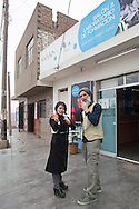 Sal Giaquinta outside the venue of the project Sin Fronteras at Jicamarca, extreme outskirts of Lima
