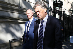 © Licensed to London News Pictures. 17/09/2019. London, UK. Secretary of State for Northern Ireland JULIAN SMITH (C) departs from Downing Street after attending the weekly Cabinet Meeting. Photo credit: Dinendra Haria/LNP