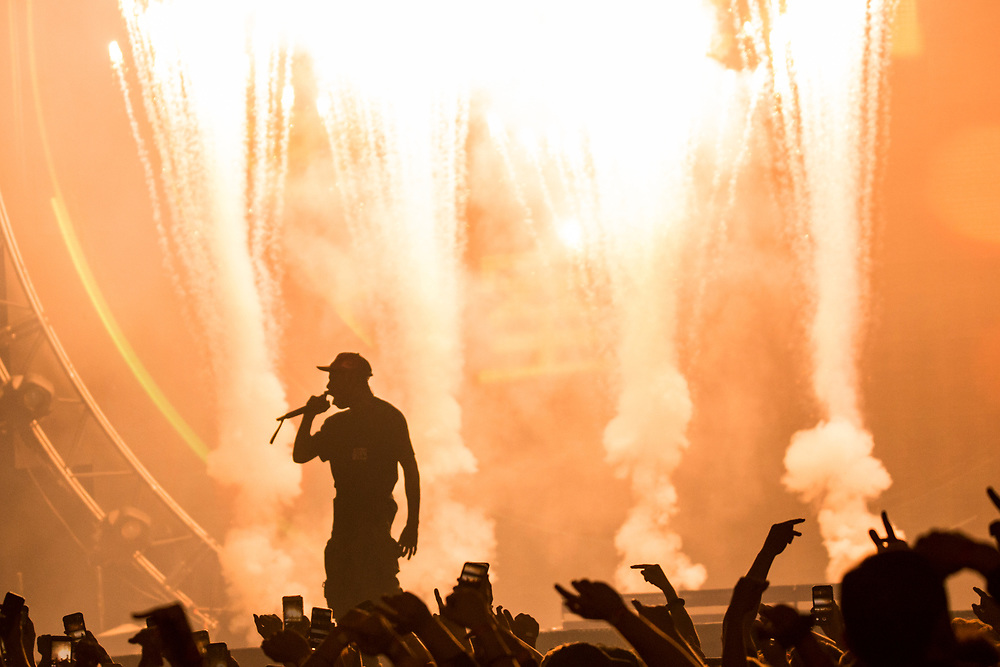 Travis Scott brings Astroworld to the Fiserv Forum in Milwaukee, WI on February 22, 2019.