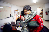 Al Franken with a nurse in the Hospital on Mosul Military Base, Iraq<br /> <br /> during USO tour<br /> <br /> photo by Owen Franken<br /> <br /> Dec 17, 2006 Al Franken, USO tour