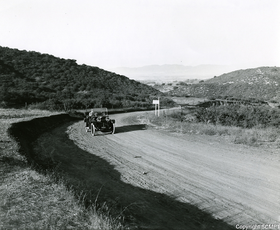 1912 Driving in Laurel Canyon