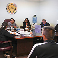 Presidential candidate Jonathan Nez at his hearing, Wednesday, Sept. 26, 2018 in Window Rock at the Office of Hearing and Appeals (OHA) investigating a complaint filed by Vincent Yazzie. OHA ruled in favor of Nez.