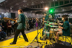 Jackie and the Cedricks play the Mooneyes Yokohama Hot Rod & Custom Show. Yokohama, Japan. December 6, 2015.  Photography ©2015 Michael Lichter.