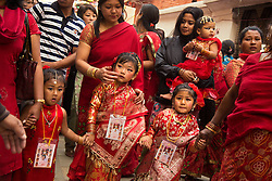 """Parents present at Kumari Puja said the function was the beginning of community life of their daughters. Despite being a Newari festival, girls from other castes also attended the ceremony. The word kumari literally means """"virgin"""" in Nepali."""