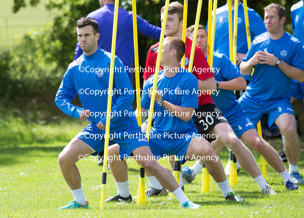 St Johnstone Training,,,,01.07.13<br /> Trialist Ian Hogg pictured in training this morning...<br /> Picture by Graeme Hart.<br /> Copyright Perthshire Picture Agency<br /> Tel: 01738 623350  Mobile: 07990 594431