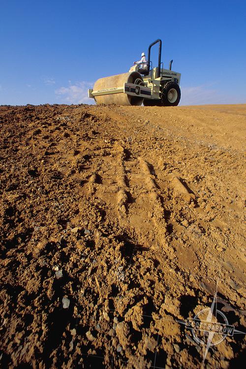 Compactor Preparing Road Surface