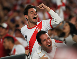 March 23, 2018 - Miami Gardens, Florida, USA - Peruvian fans celebrate the first goal during a FIFA World Cup 2018 preparation match between the Peru National Soccer Team and the Croatia National Soccer Team at the Hard Rock Stadium in Miami Gardens, Florida. (Credit Image: © Mario Houben via ZUMA Wire)