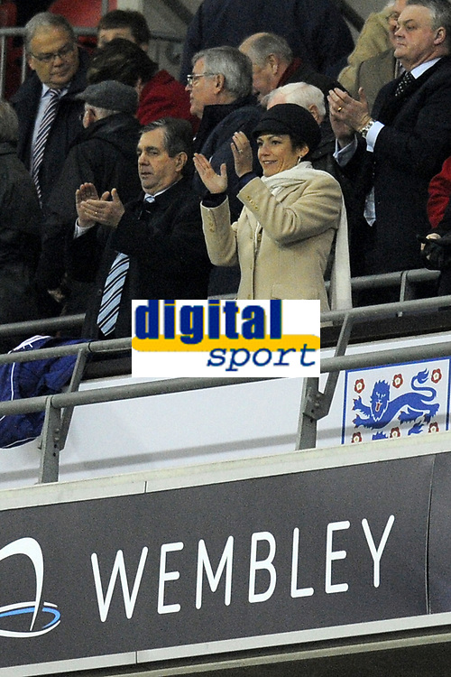 FOOTBALL - INTERNATIONAL FRIENDLY GAME - ENGLAND v FRANCE - 17/11/2010 - PHOTO JEAN MARIE HERVIO / DPPI - CHANTAL JOUANNO (NEW FRENCH SPORT MINISTER) AT THE END OF THE MATCH