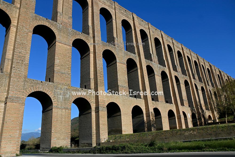Aqueduct of Vanvitelli or Caroline Aqueduct built from 1753 to 1762.  Valle di Maddaloni Italy