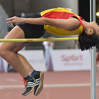Choun Ray Yi (#245) of Hwa Chong Institution, cleared 1.54m on her first attempt to win joint silver. (Photo © Stefanus Ian/Red Sports)