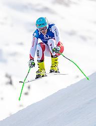 13.02.2020, Zwölferkogel, Saalbach Hinterglemm, AUT, FIS Weltcup Ski Alpin, Abfahrt, Herren, im Bild Stefan Rogentin (SUI) // Stefan Rogentin of Switzerland in action during his run for the men's Downhill of FIS Ski Alpine World Cup at the Zwölferkogel in Saalbach Hinterglemm, Austria on 2020/02/13. EXPA Pictures © 2020, PhotoCredit: EXPA/ Johann Groder