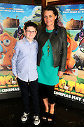 NO FEE PICTURES <br /> 19/4/15 Callum Maloney, age 11, who plays Finny and producer Moe Honan he Irish Premiere of Two by Two at the Savoy cinema in Dublin. Picture:Arthur Carron
